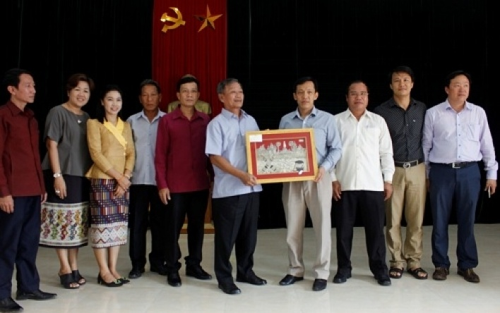 Delegation of agencies under the Ministry and some Departments of Khammouane province, Lao PDR...